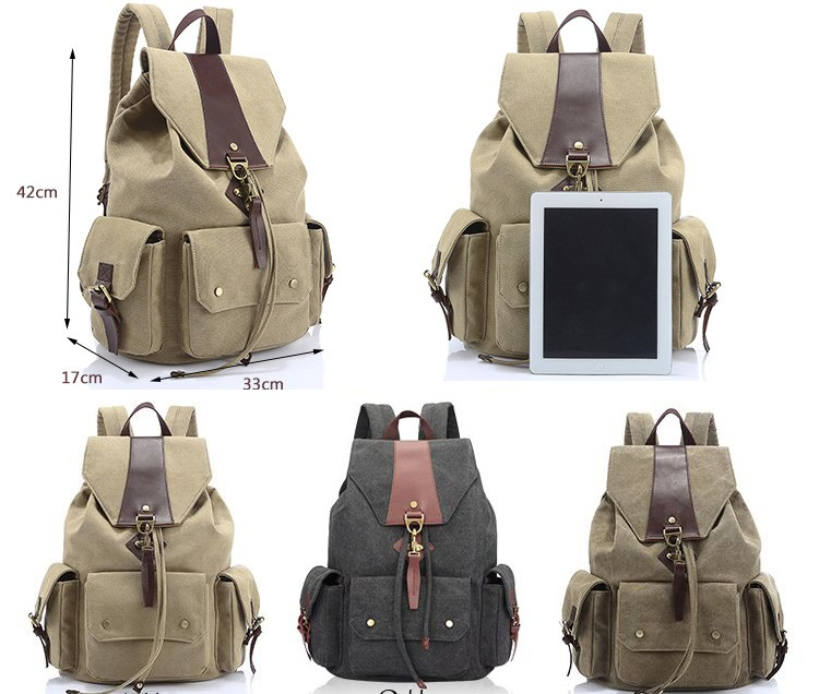 Bargain sale ethnic style canvas mochila escolar vintage retro canvas used college backpack drawstring womans back packs