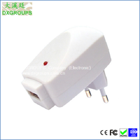EU AC Plug Usb 3g Universal Wall Charger for Cell Phones Tablet Black & White Style ( 5V/500mA )