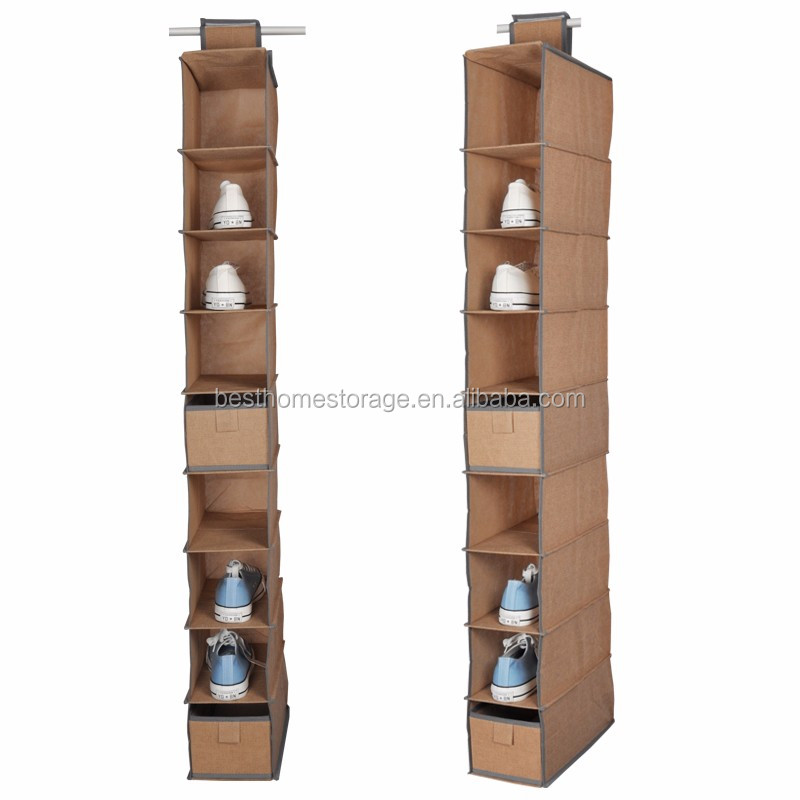 6 Extra Large Pockets Hanging Shoe Organizer With Transparent PVC Window