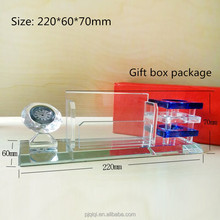 New Design Office Supplies, Crystal Pen Holder and Blank Name Card Holder with Crystal Clock for Business Gift