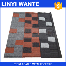 Top Quality french stone coated metal roofing tile with shingles type design