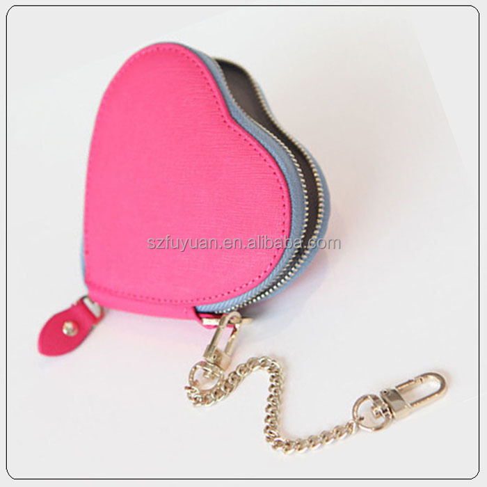 heart shape fancy women lady coin purse