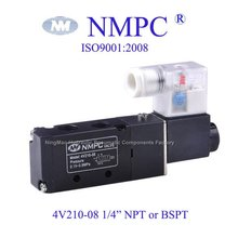 "4V210-08 Gas Cotrol Valve/ solenoid valve/ aie,gas / 12V,24V DC or 110V, 220V AC/ In=out=1/4"" NPT or BSPT"