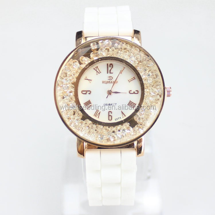 Ladies Women Skid Resistance Silicone Watches Jewelry Vintage Watch Diamond Watch