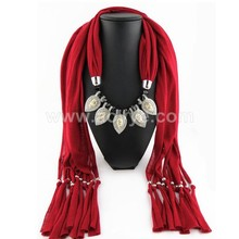 Super quality fashionable alloy pendant jewelry women's scarf