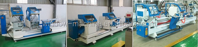 PVC window welding machine with double head