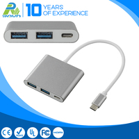 Type C USB3.1 to 2 Port USB + Type C USB3.0 Hub