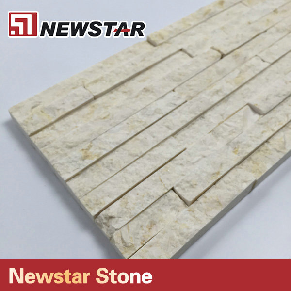 Natural marble veneer stacked ledge culture stone