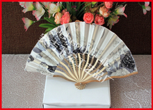 Colorful bamboo crafts gift fan