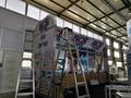aluminum truss booth exhibition display, custom trade show display for exhibition design