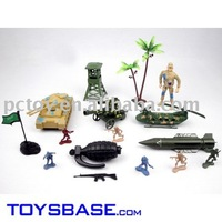 Kids plastic military soldiers toy set