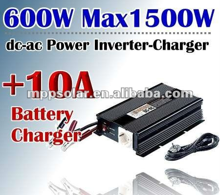 600w surge 1.5kw 12V DC to AC 10A sine wave inverter power inverter charger