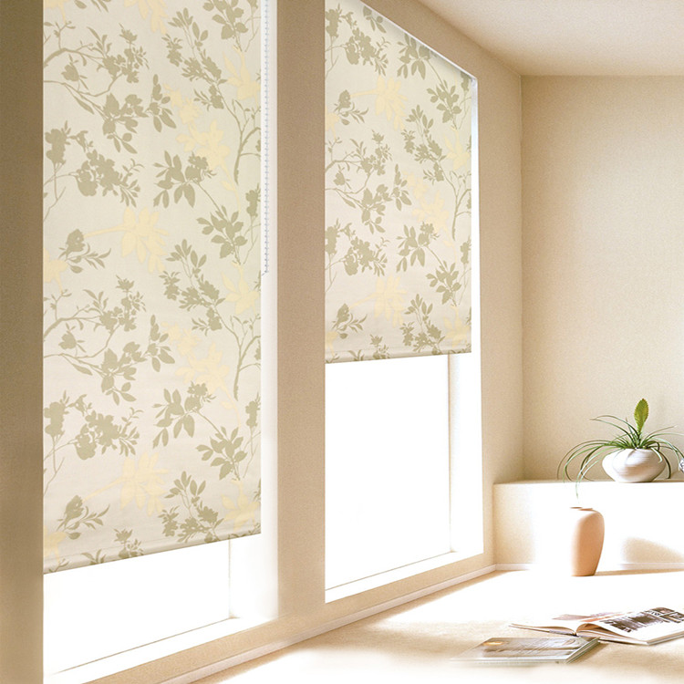 Hot sale solid window roller blinds with lace