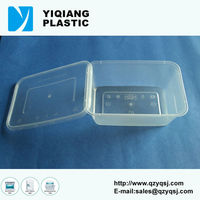 with sealed lid YQ387 plastic rectangular containers