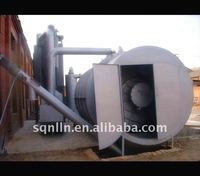 Horizontal rotary waste tire and plastic recycling machine