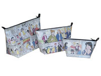 Comics Cosmetic case bag makeup Recycled Reused Upcycled Eco environment friendly Green