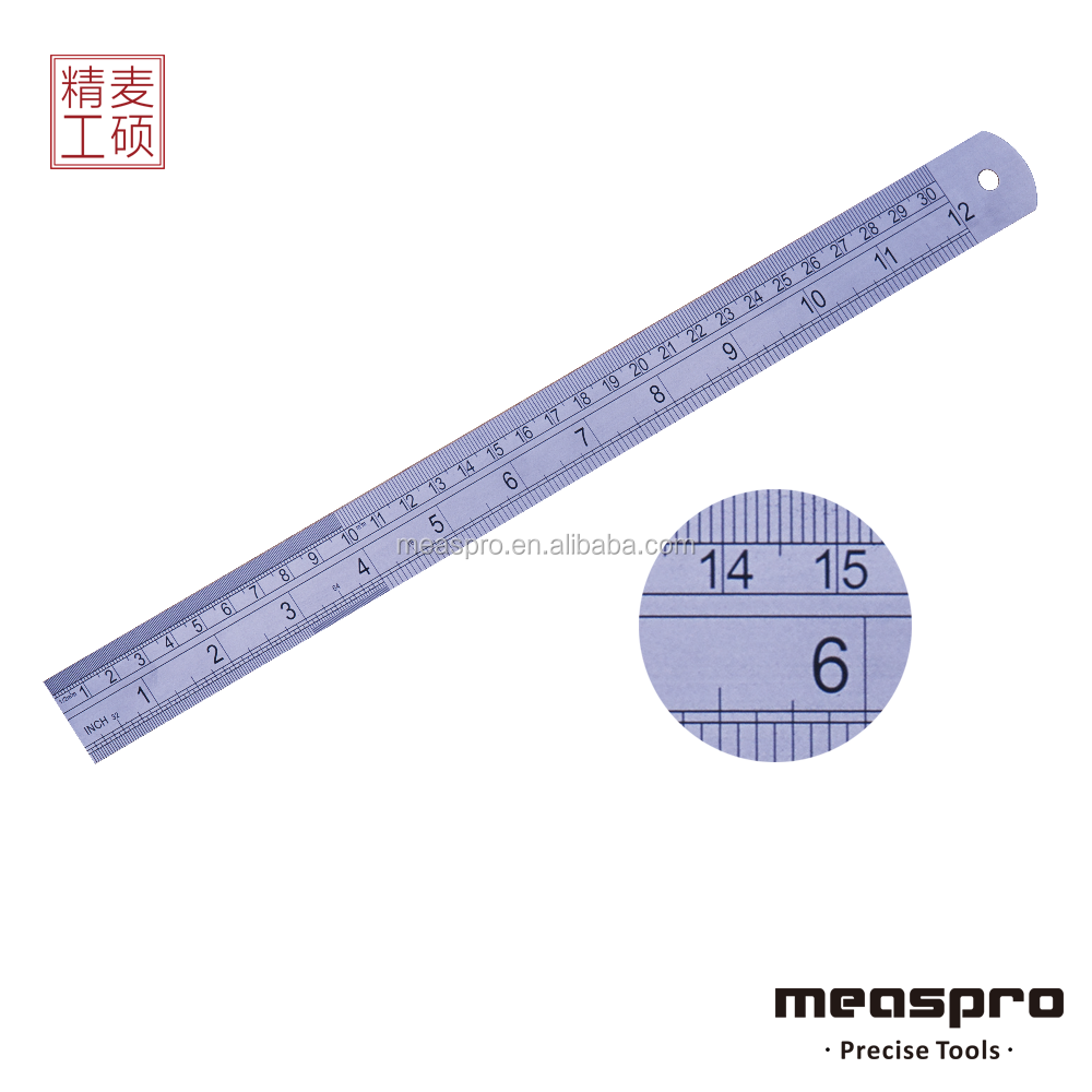 12Inch/30cm Stainless Steel Ruler Metal Ruler with OEM logo