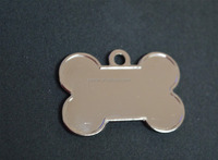 custom metal bone shape dog tag