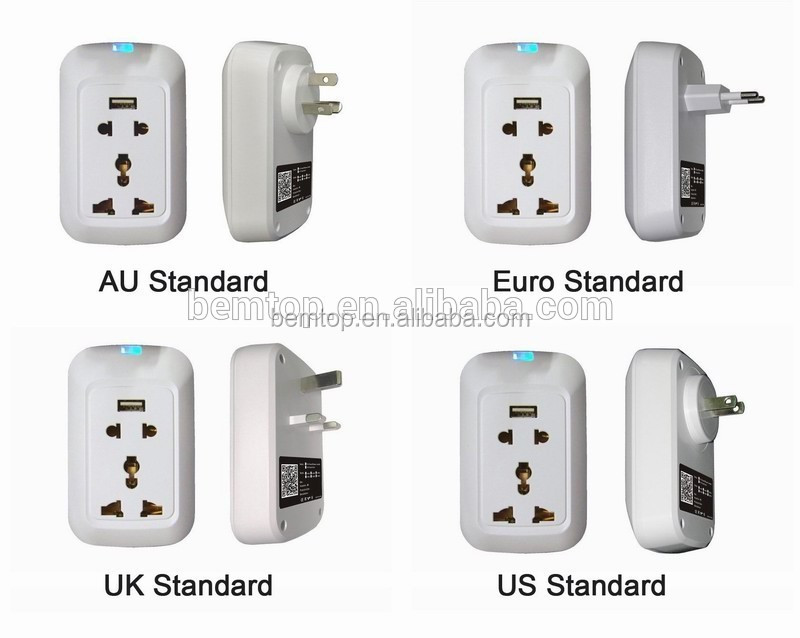 AU/EU/US/UK Outlet Power Metering Technology Wifi Remote Controll Power Socket with USB Plug Socket for Household Automation