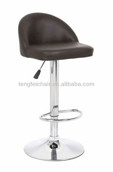 New low backrest PU bar stool with chroming base/ 360 degree and height adjustable/ all color