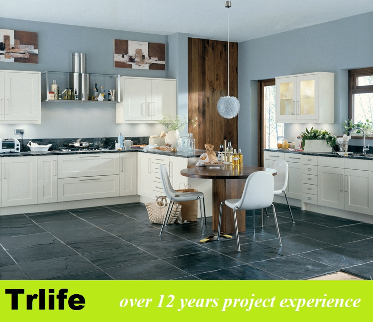 Trlife new style double sides Matte grey PVC kitchen cabient factory direct