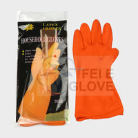 CE 40g protecting hands household latex gloves rubber gloves manufactuer /factory