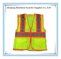 Security Guard Reflective safety Clothing with Zipper and Pockets