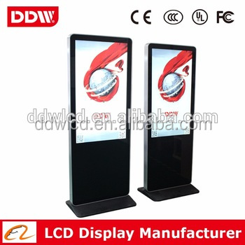 55 Inch Floor Standing Sumsung Vertical Screen Lcd Advertising Player/Display/Digital Signage