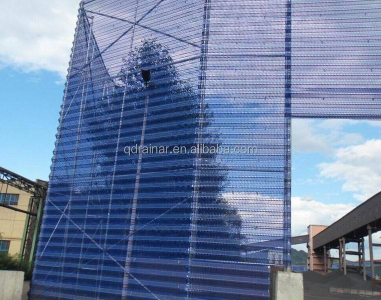 galvanized +painting color finished anti- dust mesh fence wind stopping barrier