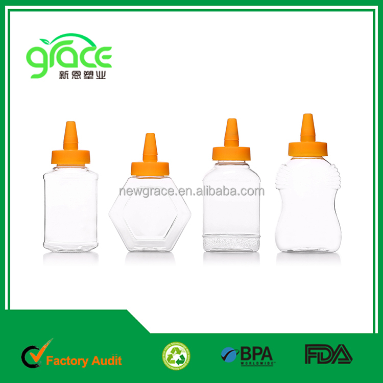 360ml200mlchinese supplier hot sale food grade Needle nose lid Plastic squeeze bottle for honey ketchup sauce