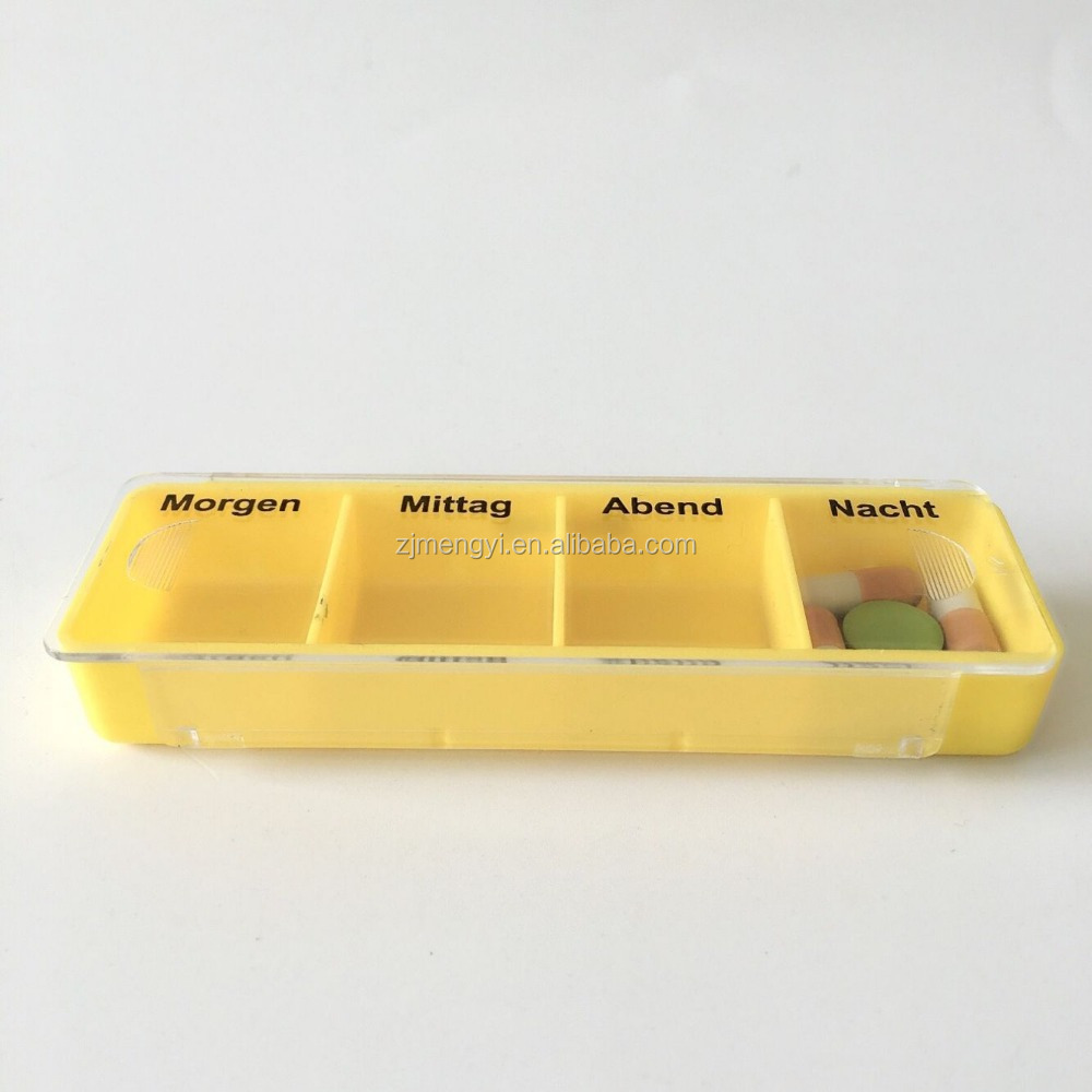 four compartment one day plastic pill box