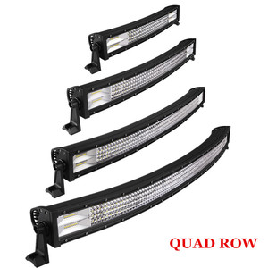 "Car Accessories truck roof 4x4 spot lights led 32"" Curved Quad / 4 rows light bar"