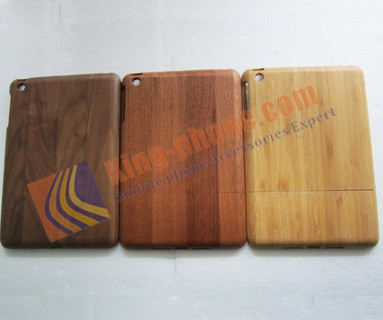 Low price china mobile phone natural wooden case for ipad mini,wood mobile phone