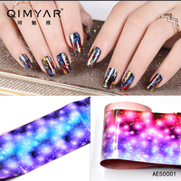 Nail Art Transfer Stickers Foils Starry Sky Multicolor DIY Decor Manicure for Nail Art-----4*42 cm