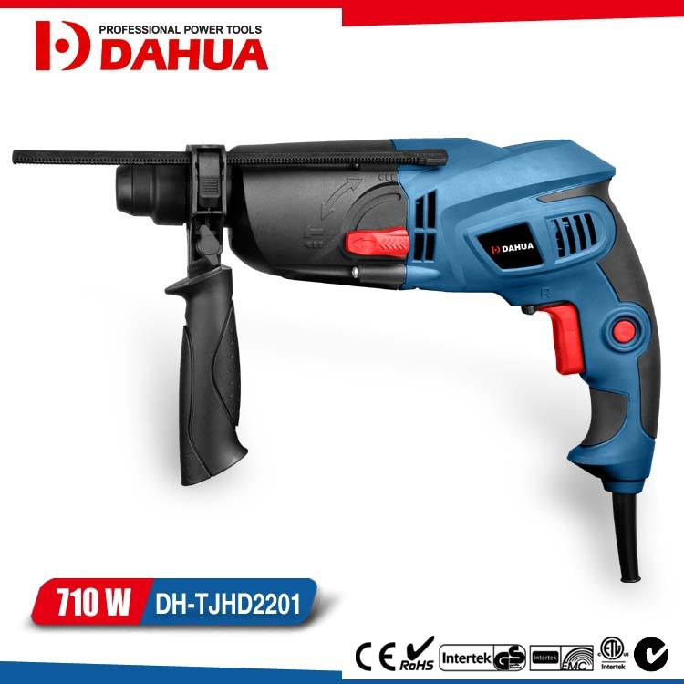 POWE TOOLS ELEXTRIC HAMMER 22MM 710W ROTARY HAMMER HAMMER DIRLL DH-TJHD2201
