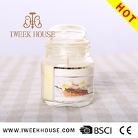Promotion home decor/wedding favour/date scented glass candle