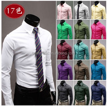 2016 Walson instyles <strong>mens</strong> Slim Fit Dress <strong>Shirts</strong> 17 colors