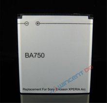 Gold X12 BA750 Battery best quality mobile phone battery For Sony Ericsson Xperia Acro Arc S LT15i LT18i