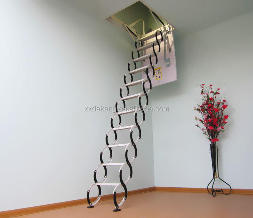 Aluminum Attic Ladder Folding Attic Stair En14975 Model