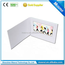 "Promotional USB Digital video player mail 4.3/5""/7"" video greeting card lcd/touch screen video brochure card"