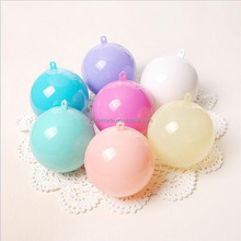 8CM Multi Color ball shaped candy gift box, fancy Christmas baby shower party decorative case