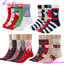 USA Warehouse Deliver New <strong>Design</strong> Warm Thickening Cotton Christmas Winter Socks Wholesale