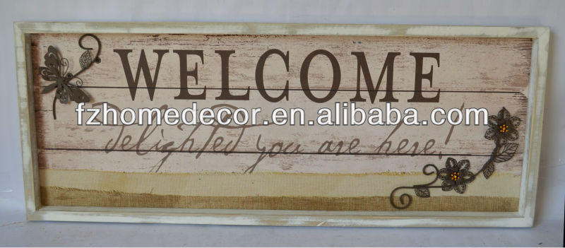 wood sign with frame for home decor