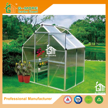 Low Cost Agriculture Polycarbonate Green House With Gutter - 133 x195x185cm