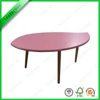 Leaf shape morden wooden coffee table