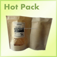 beef jerky kraft paper packaging bags for 800g / kraft paper bags with oval window
