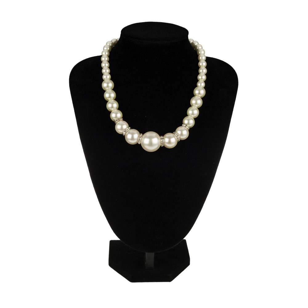 2016 wholesale fashion jewelry elegant pearl chunky silver necklace