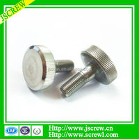 Good Fastener knurled big flat head Machine screws