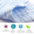 100% organic cotton baby muslin face cloth(BCD064)