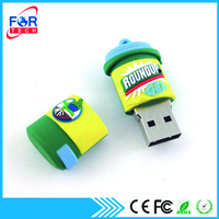 Hottest Promotional Customized Bin Shaped OEM/ODM PVC USB drive